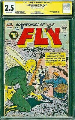 ADVENTURES OF THE FLY 4 CGC 2.5 SIGNATURE SERIES NEAL ADAMS His First Work 1960