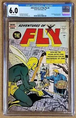 ADVENTURES OF THE FLY #4 CGC 6.0 key issue Neal Adams 1st pro work Archie 1960