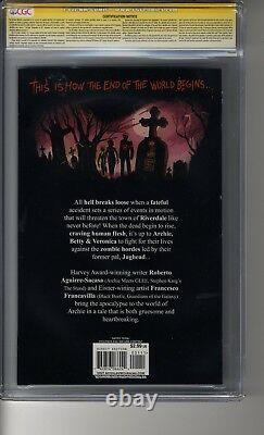 Afterlife with Archie # 1 CGC 9.0 WHITE Pages SS2X Francavilla & Aguire-Sacasa