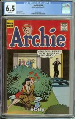 Archie #103 Cgc 6.5 White Pages // Harry Lucey Cover/art