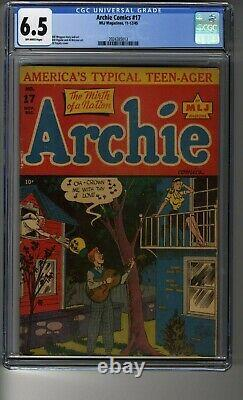 Archie Comics (1942) # 17 CGC 6.5 Off-White Pages Rare -Third Highest Graded