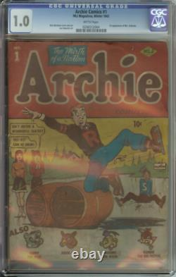 Archie Comics #1 Cgc 1.0 Brittle Pages // #1 Issue
