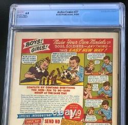 Archie Comics #27 (1947) CGC 6.0 Rare Early Issue! Riverdale MLJ Comic