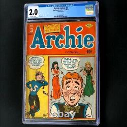 Archie Comics #3 (1943) CGC 2.0 OW Only 43 in Census Golden Age MLJ Comic
