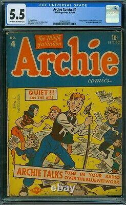 Archie Comics 4 CGC 5.5 OWithW Pages