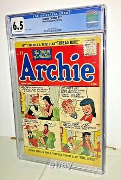 Archie Comics #77, CGC 6.5, Off-White to White Pages