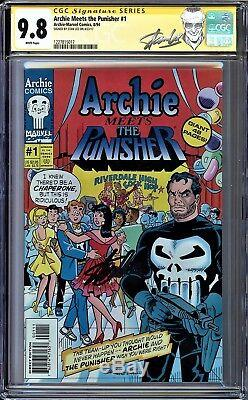 Archie Meets The Punisher #1 Cgc 9.8 White Stan Lee Signed Cgc #1227815017