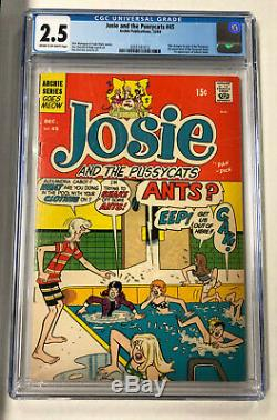 Archie Publications Josie and the Pussycats #45 December 1969 CGC 2.5 (JC)