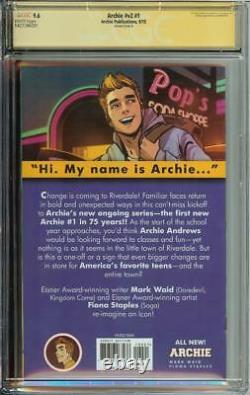Archie Vol 2 #1 Ss Cgc 9.6 Auto K. J. Apa Signed Riverdale Actor Campbell Cover