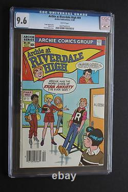 Archie at Riverdale High #89 4th CHERYL BLOSSOM 1982 1st in Title CGC NM+ 9.6