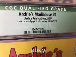 Archie's Madhouse #1 CGC. 5 Qualified Off-White To White Pages FRESHLY GRADED