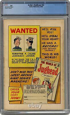 Archie's Madhouse #22-12CENT CGC 3.0 1962 3763774022