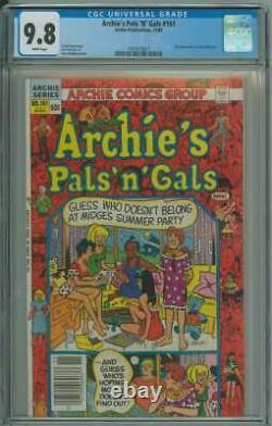 Archie's Pals'n' Gals #161 Cgc 9.8 White Pages