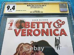 Betty and Veronica v3 #1 Archie CGC SS 9.4 NM Signed by Adam Hughes