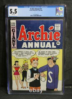 CGC Graded 5.5 WHITE Pages Archie Annual #11 35 Cent Canadian Variant