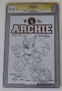 CGC Graded 9.8 NM/M Archie No. 1, 2015, Sketch, Sonic Drawn by Terry Austin