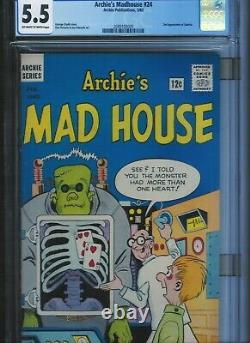 Cgc 5.5 Archie's Madhouse #24 O/w To White Pgs 2nd Appearance Of Sabrina