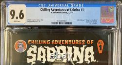 Cgc 9.6 Chilling Adventures Of Sabrina #1 Archie Publications Comic Book Die-cut