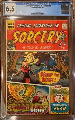 Chilling Adventures In Sorcery #1 CGC 6.5 FN+ 1972 Sabrina Cameo