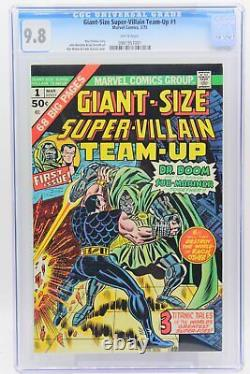 Giant -Size Super-Villain Team-Up #1 CGC 9.8, White Pages