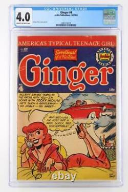 Ginger #4 CGC 4.0 VG Archie Publications 1952