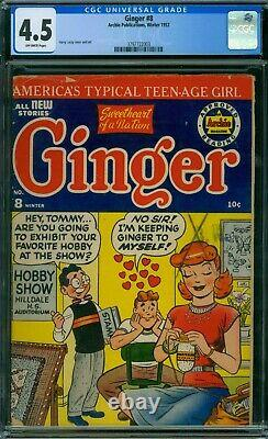 Ginger 8 CGC 4.5 OW Pages