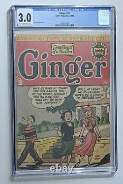 Ginger Comics #3 (1952, Archie) CGC 3.0 George Frese cover