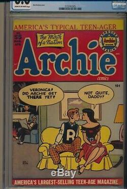 Golden Age Archie Comics #55 Cgc 6.0 Only 5 Higher! Tough Book