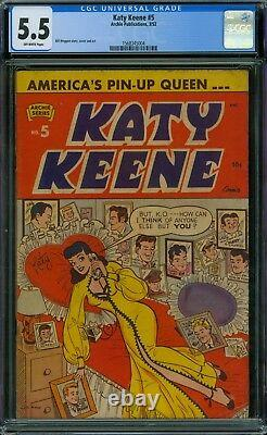 Katy Keene 5 CGC 5.5 OW Pages