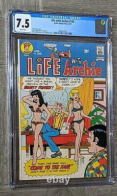 Life With Archie #136 CGC 7.5 Archie Pub. 1973 Betty & Veronica Swimsuit Cover