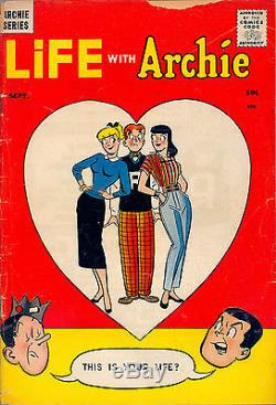 Life With Archie #1 Cgc 3.0 Archie Comics Classic Rare Htf Premiere Issue 1958
