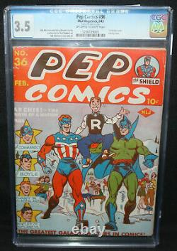 Pep Comics #36 1st Archie Cover Infinity Cover CGC Grade 3.5 1943
