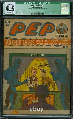 Pep Comics 42 CGC 4.5 OW Pages Qualified