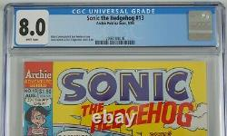 Sonic the Hedgehog #13 CGC 8.0 1st appearance of Knuckles the Echidna newsstand