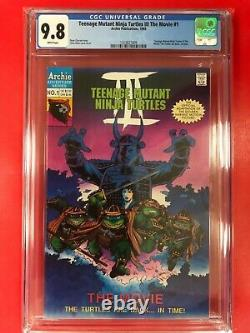 Teenage Mutant Ninja Turtles 3 The Movie #1 Cgc Mt 9.8 White Pages Allan Cover A