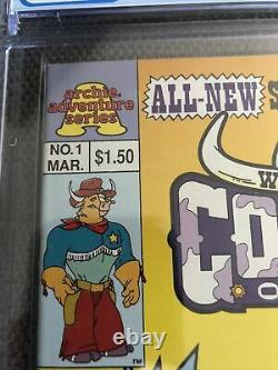 Wild West Cowboys Of Moo Mesa #1 CGC 9.8 Canadian Newsstand Price Variant Archie